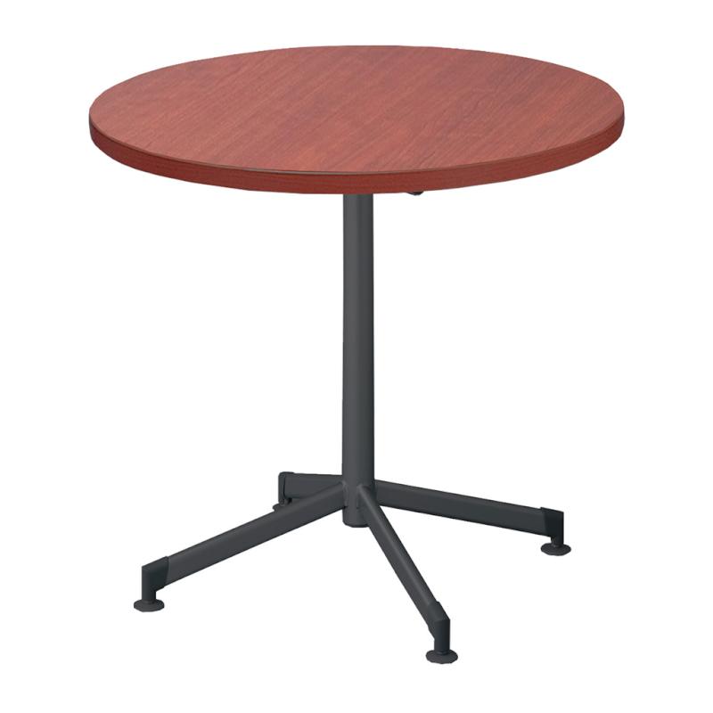 木製テーブル φ900 H700 十字 塗装脚 ブラック フーク | I-FKTXM90-B
