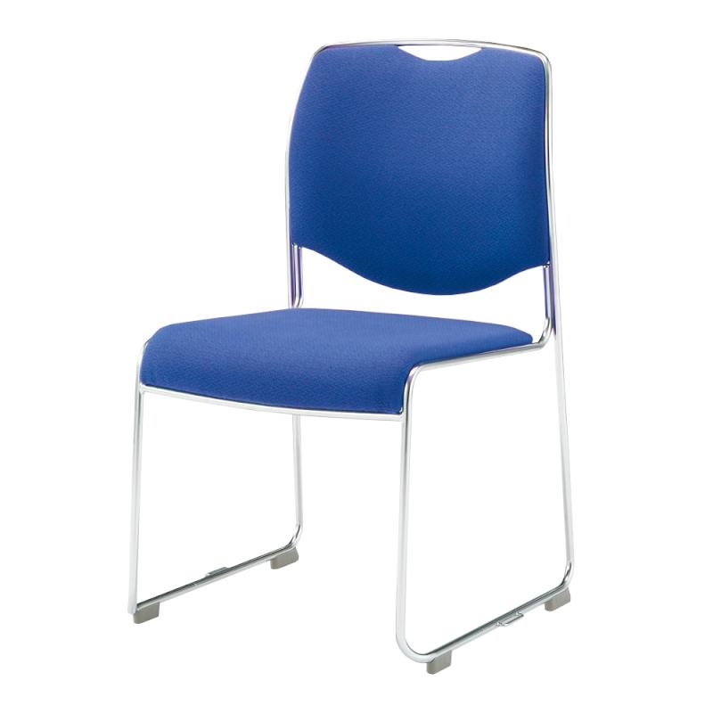 ミーティングチェア スタッキングチェア 会議用椅子 ループ脚 ステンレス メッキ脚 肘付き レザー   I-DMC27-LYL