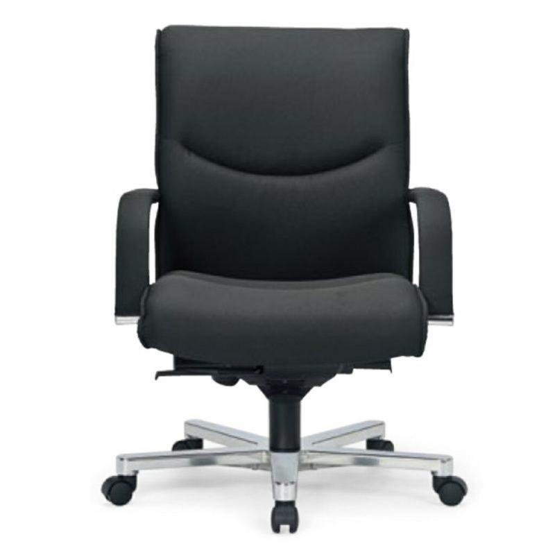 オフィスチェア デスクチェア 事務椅子 肘付き 布張り ブラック | I-ICAI-9205-F