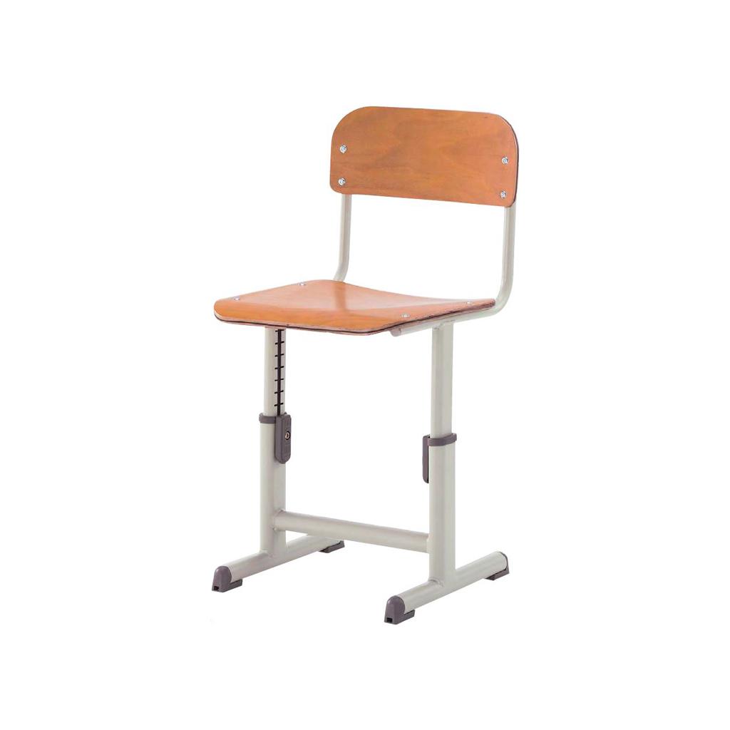 学校椅子 生徒用椅子 可動式 Lサイズ 背座合板 | I-YEC-601AFW-L