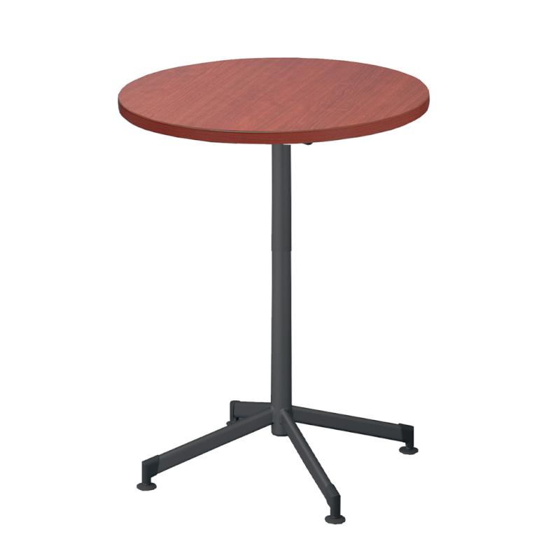 木製テーブル φ750 H1000 ハイタイプ 十字 塗装脚 ブラック フーク | I-FKTXHM75-B