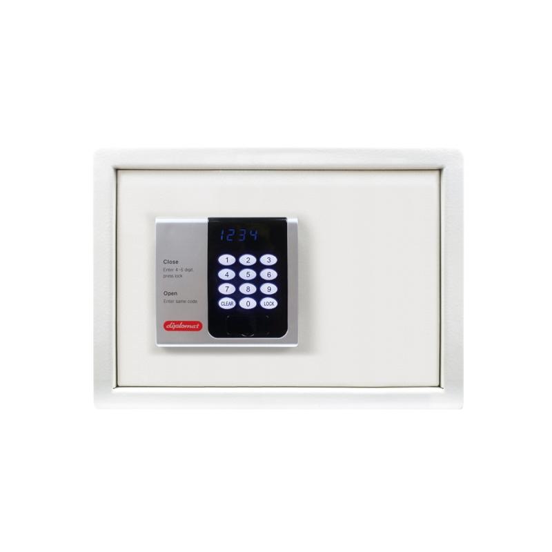 ディプロマット ホテル金庫 容量16L ホワイト 表示4カ国対応 | I-H25CS9002
