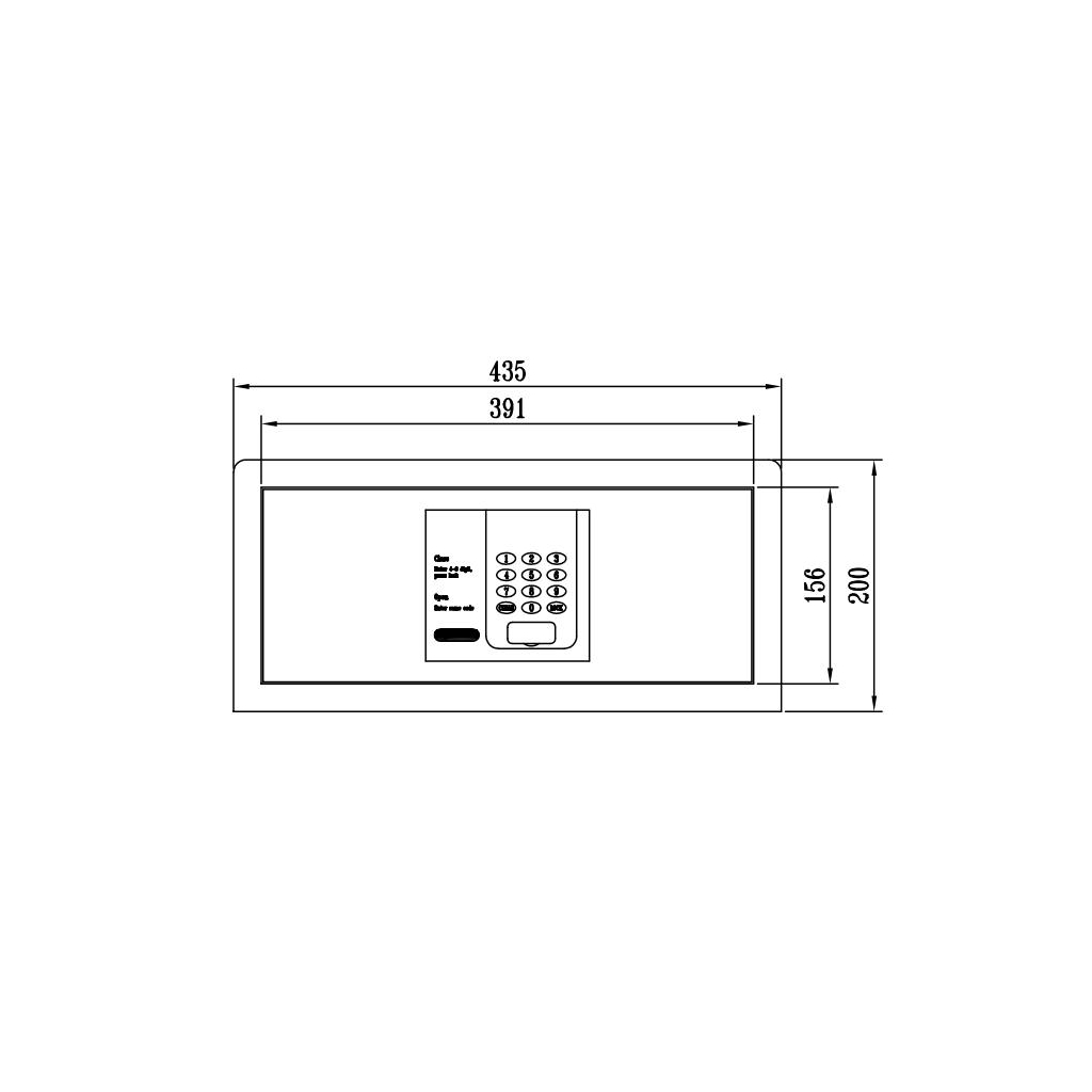 ディプロマット ホテル金庫 容量24L ブラック 表示4カ国対応   I-H200C7021