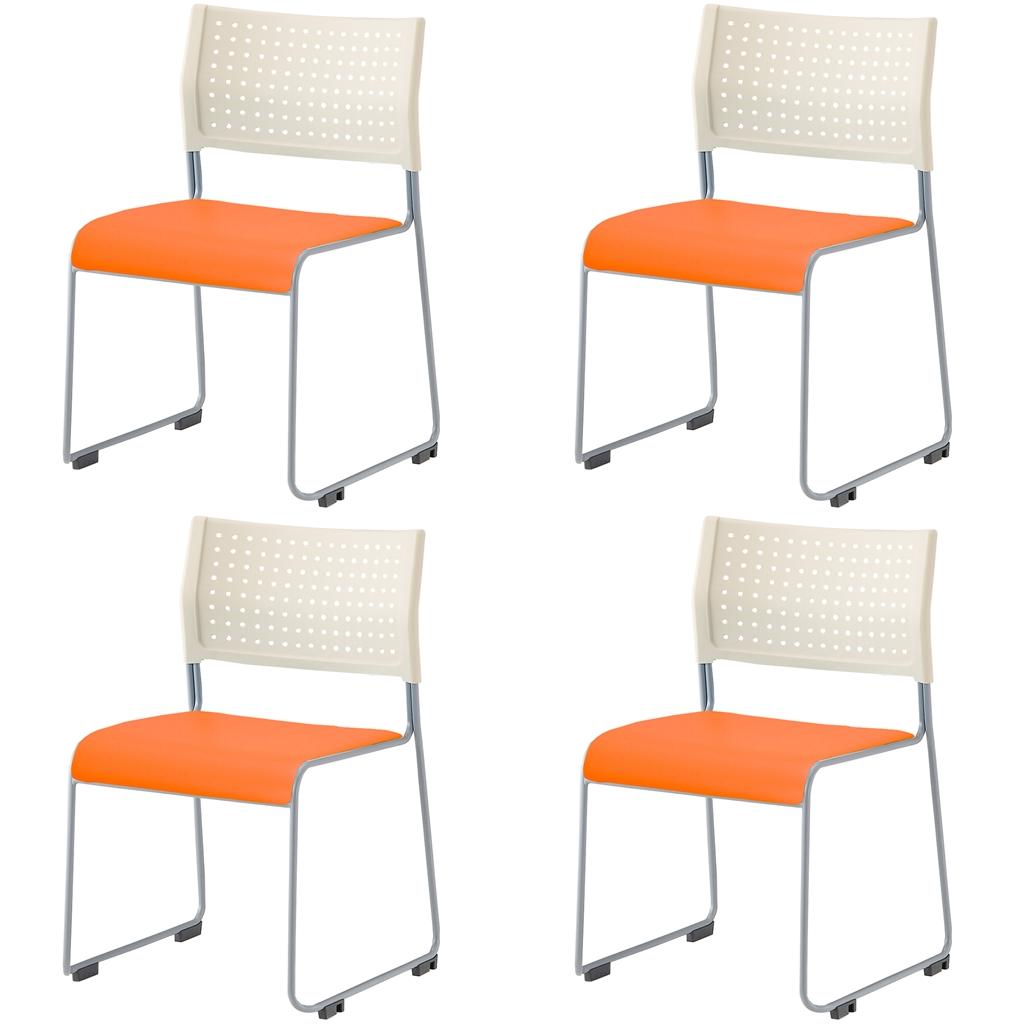 ミーティングチェア スタッキングチェア 会議用椅子 | 【4脚セット】 I-LTS-110-V
