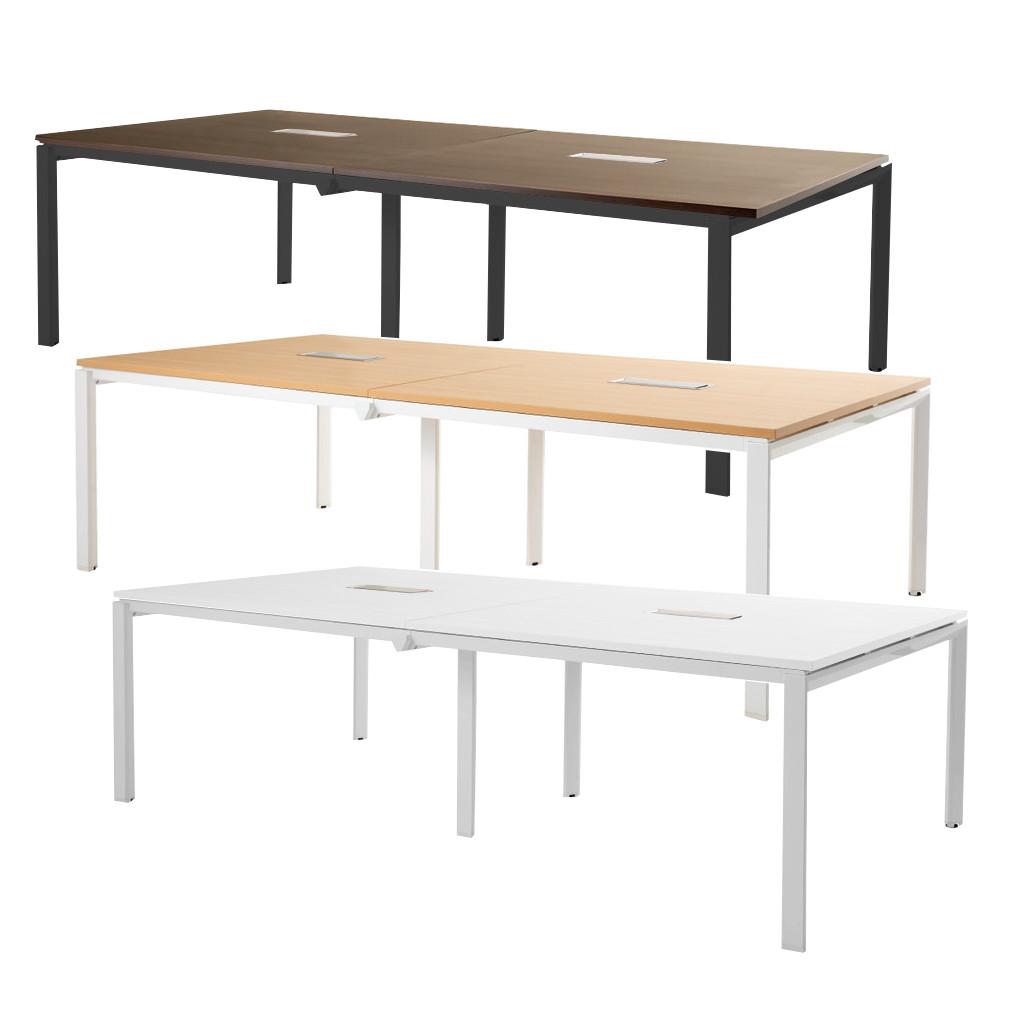 会議用テーブル ミーティングテーブル W2400 D1200 H720 | I-FAD-2412