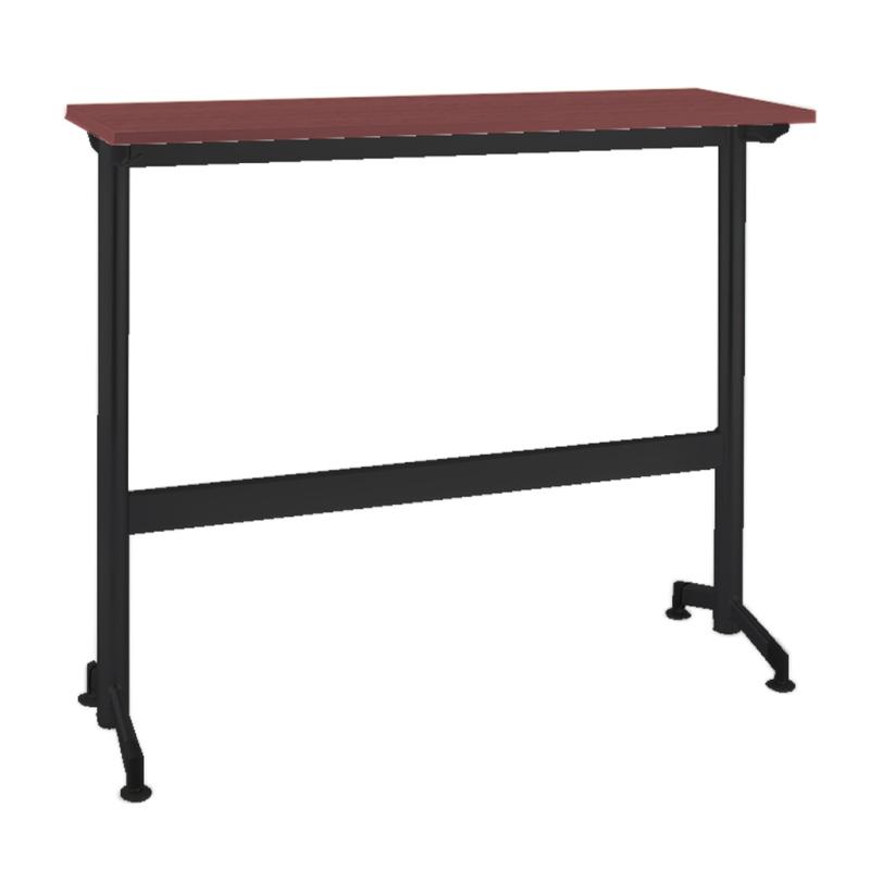 木製テーブル W1200 D400 H1000 カウンター 塗装脚 ブラック フーク | I-FKTK1240-B