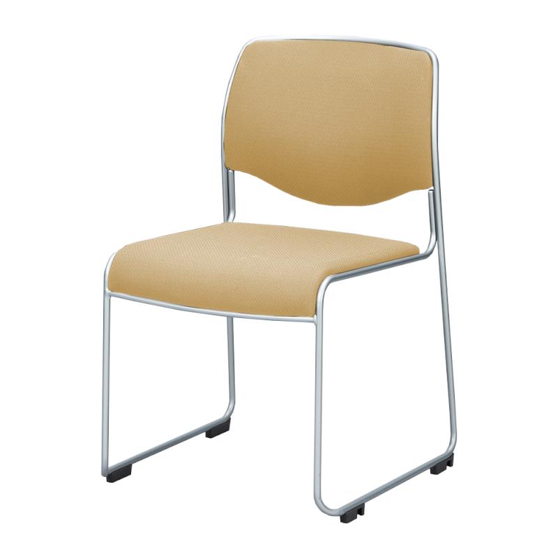 ミーティングチェア スタッキングチェア 会議用椅子 ループ脚 スチール シルバー 塗装脚 レザー | I-DMC10ST-LYL