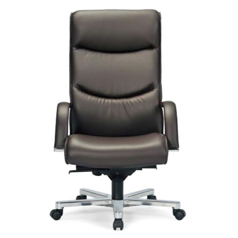 オフィスチェア デスクチェア 事務椅子 肘付き 布張り ダークブラウン   I-ICRA-9255-L-DBDR