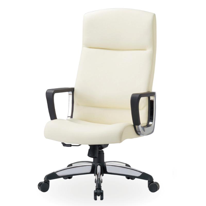 オフィスチェア デスクチェア 事務椅子 肘付き 布張り アイボリー   I-ICAI-6175-V-IV