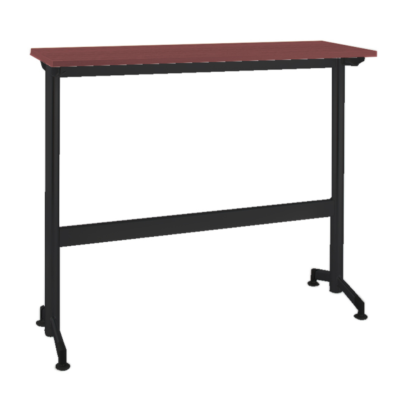木製テーブル W1800 D400 H1000 カウンター 塗装脚 ブラック フーク | I-FKTK1840-B