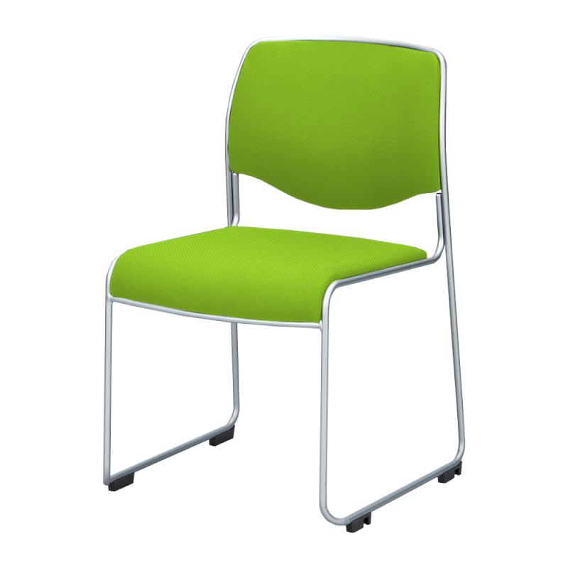 ミーティングチェア スタッキングチェア 会議用椅子 ループ脚 スチール シルバー 塗装脚 上級布 | I-DMC10ST-PXN