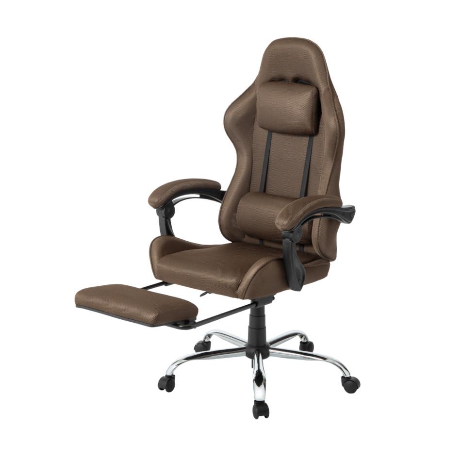 【新商品】 オフィスチェア リクライニング 無段階 メッシュ フットレスト ハイバック | I-OFC-020
