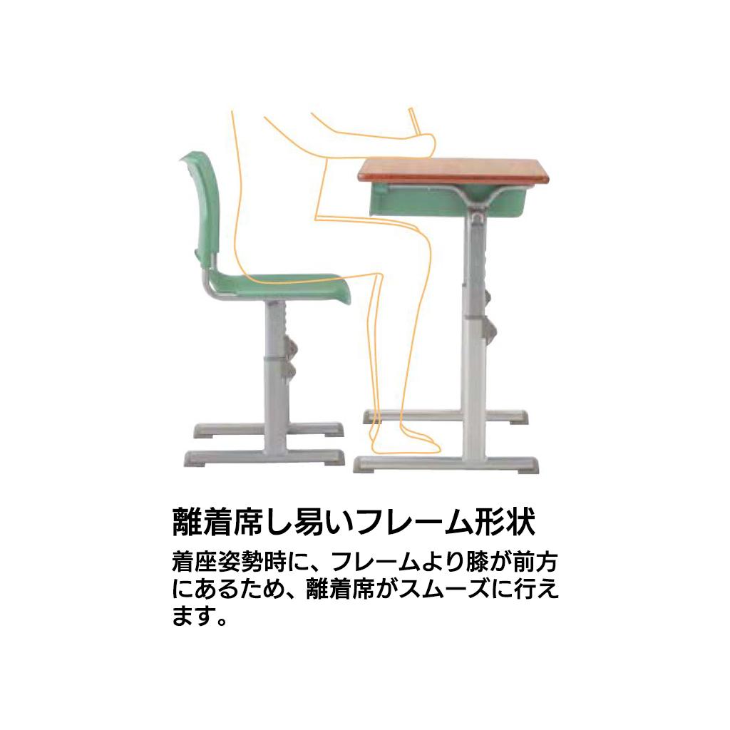 学校椅子 生徒用椅子 可動式 Mサイズ 背座合板 RX2型 | I-GRNCMW