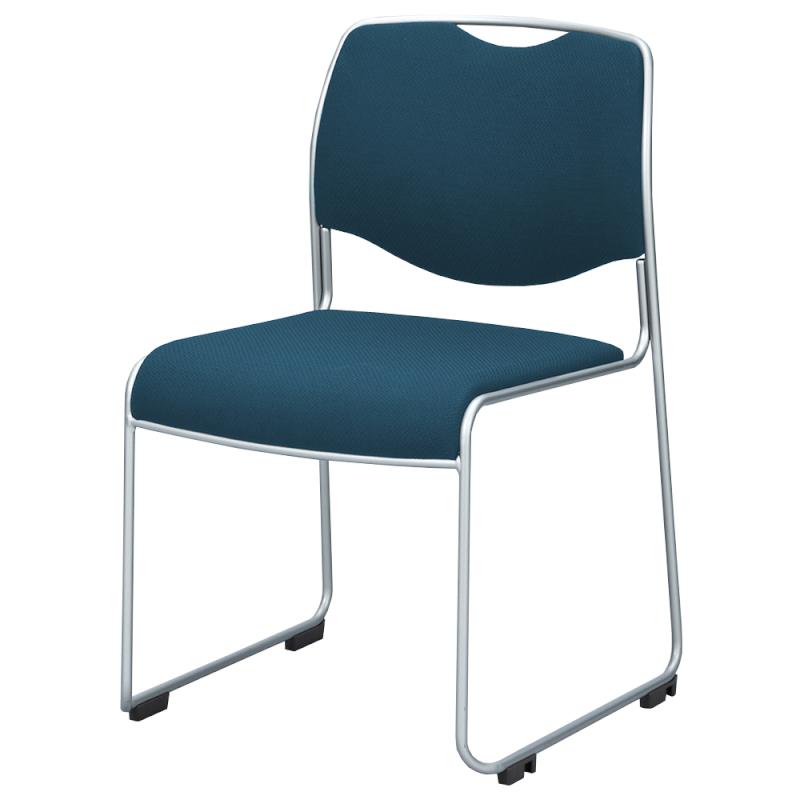 ミーティングチェア スタッキングチェア 会議用椅子 ループ脚 スチール シルバー 塗装脚 レザー   I-DMC15ST-LYL