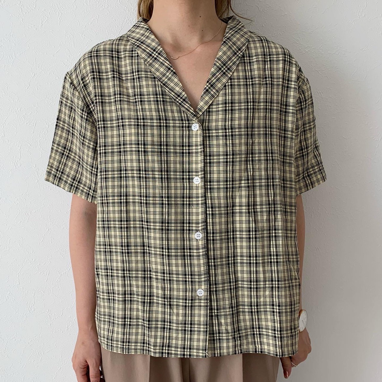 チェックカイキンシャツ