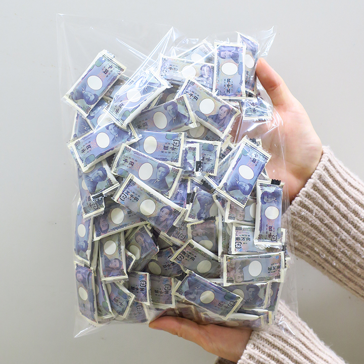 お徳用 お札チョコ 100個入り