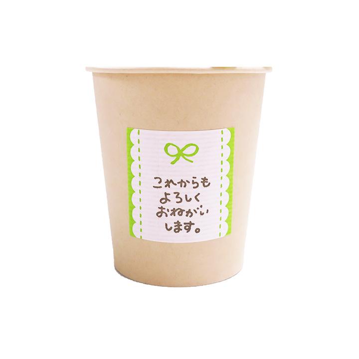チョコレート付き カフェタイムセット これからもよろしくお願いします(緑) リボン