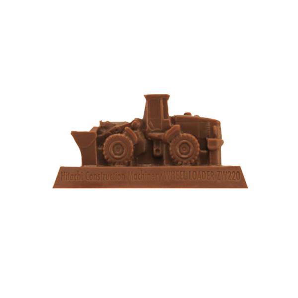 【完売】トミカ働く車チョコレート 日立建機 ホイールローダーZW220
