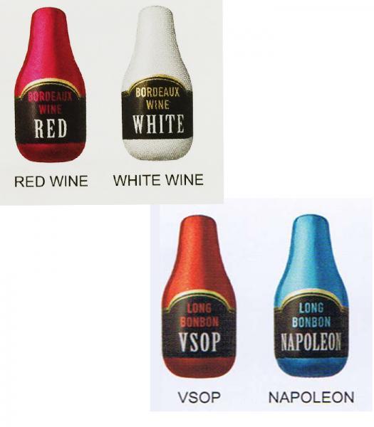 【完売】LONG BONBON 4酒ボンボンチョコセット ナポレオン、赤ワイン、白ワイン、シャンパン
