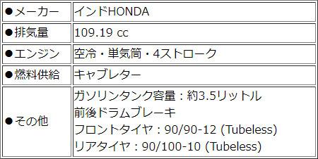 HONDA Navi110【イエロー】 点検整備費込み 【輸入新車 カード支払いOK】 【インドホンダ ナビ110】【原付二種】