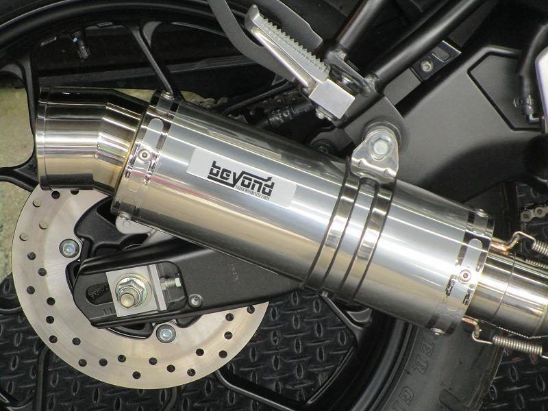 BEYOND XSR155 ステンレスマフラー【フルエキゾースト】【Chopsオリジナル】