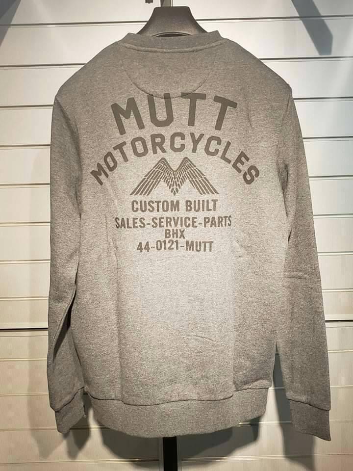 MUTT Motorcycles トレーナー MUTT Shop 【チャコール/Mサイズ】【マットモーターサイクル】