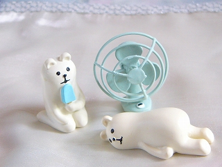 Decole 夏のまったりマスコット <しろくまアイス/うだうだしろくま/うだうだペンギン/扇風機>