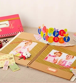 【スクラップホリック】ポップアップペーパー/<Happy Birthday>