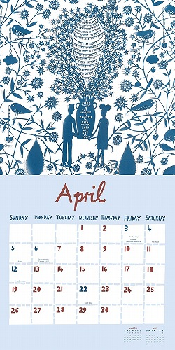★【送料半額】★2015 ロブ・ライアン(Rob Ryan) 切り絵 カレンダー【海外輸入】