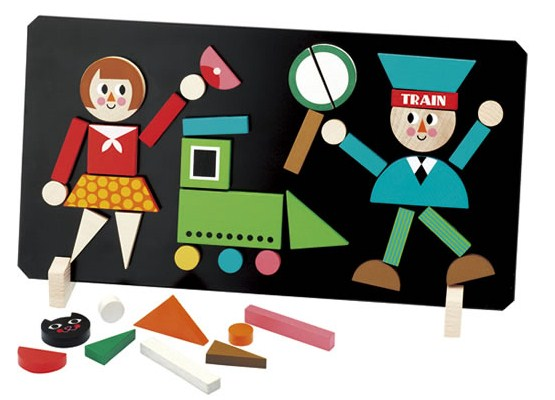 <チェコ製> インゲラ・アリアニウスのマグネット付き木製パズル!【マグネットパズル<トレイン>/インゲラ・アリアニウス 】