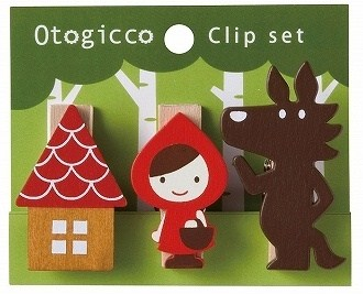 Decole otogicco 木製クリップ<赤ずきん>