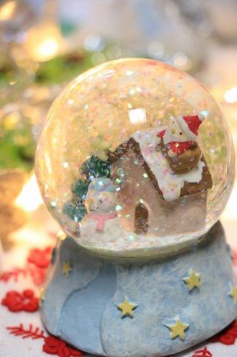 【Xmas(クリスマス)】スノードーム【ハウスクリスマス(L)】