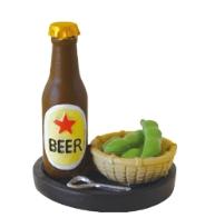 Decole 夏のまったり ミニチュアメニュー : 【ビール&枝豆】