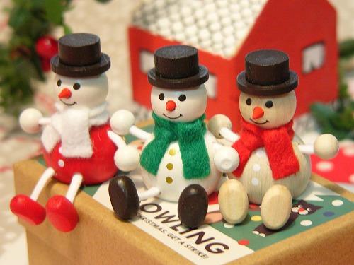 チェコ製 クリスマスレスニー<スノーマン>