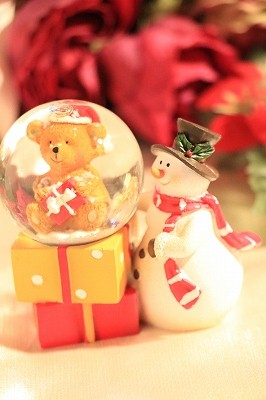 【Xmas(クリスマス)】スノードーム【クリスマス/スノーマン&テディベア 】