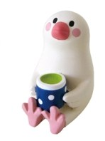 DECOLE(デコレ)コンコンブル(concombre)まったりマスコット  「日本茶文鳥」