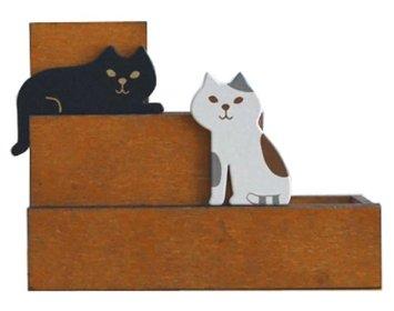 Decole oh,my cat!miranda 階段猫 ペンスタンド
