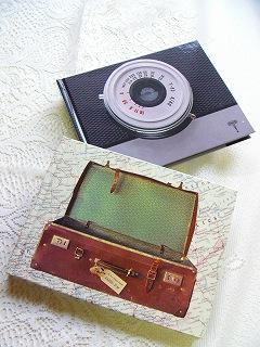 フリー台紙フォトアルバム(S) <オールドトランク/シングルレンズカメラ>