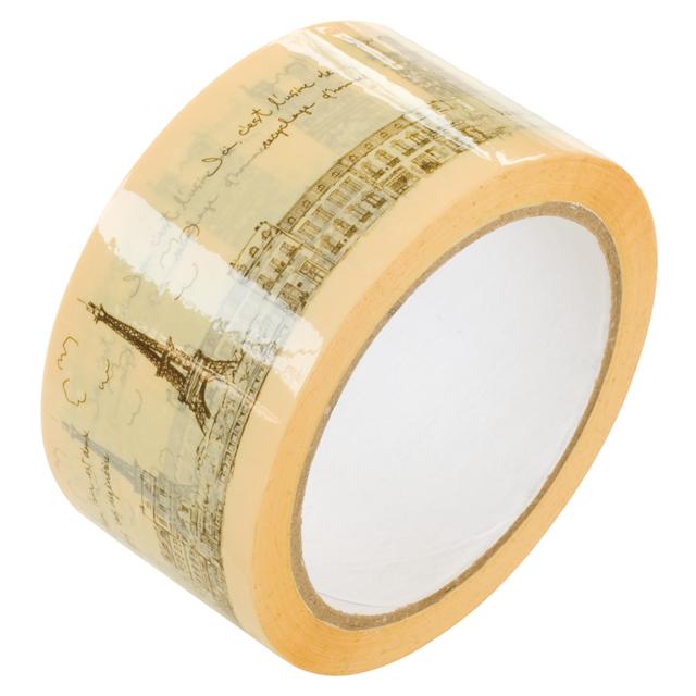 【50M巻】ParisプリンテッドOPPテープ<クリームイエロー>