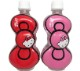 【リボン型】 キティ デザイン ボトルウォーター 【リボンキティ(レッド&ピンク)】