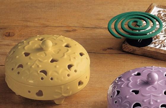 ◆トローピコ 蚊遣り シードリーフ<陶器 蚊取り線香入れ:【イエロー】>