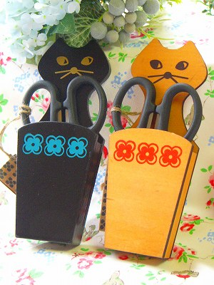 DECOLE miranda CAT はさみ&はさみポケット(マグネット付き)<ブラック/ナチュラル>