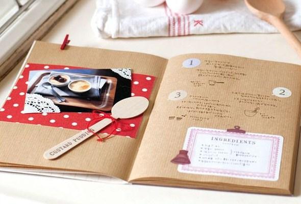 スクラップノートブック・A5/スクラップホリック/ブラウン