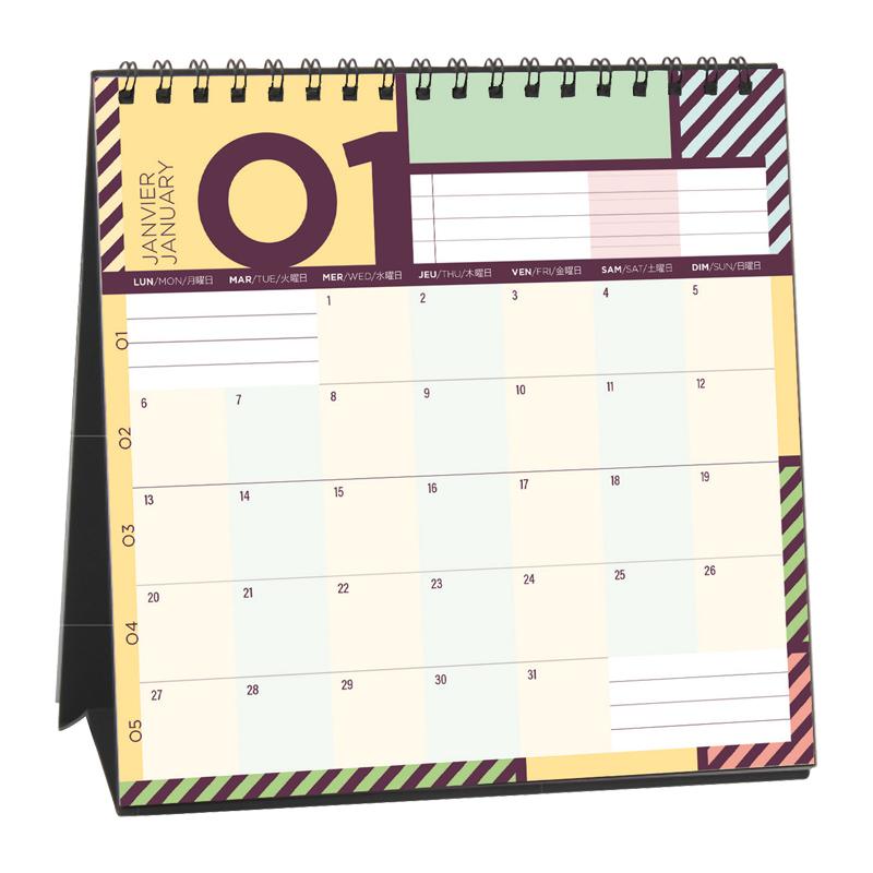 2020 クオバディス PAPIER TIGRE (パピエティグル) 2020年 卓上カレンダー プティプランニング