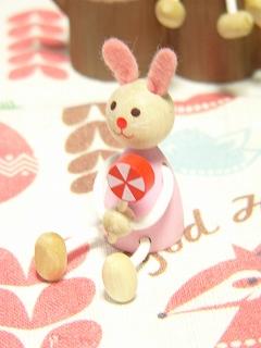 チェコ製 DETOA レスニー 棒付きPOP キャンディ<ウサギ/クマ/ネズミ>