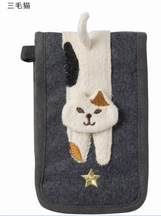 DECOLE miranda フラップペンケース <黒猫/三毛猫>