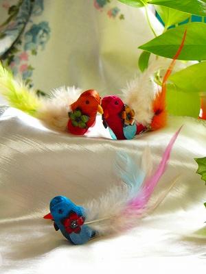 【枝や葉にとめられる♪】 フルールプーレ バードクリップ <5種>
