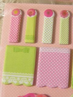 【New♪】 ラブリー付箋セット:ピンク