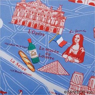 【ハンカチ・Paris/Daily&Ritzy 】4つのワッペンを貼ってオリジナルのハンカチを作ろう!