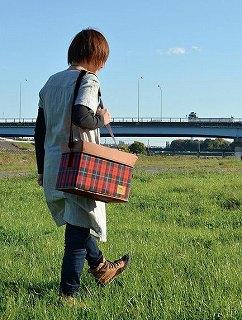 【折りたたみOK!!保冷バッグ】 DECOLE check tic  保冷スツールBOX<チェック>